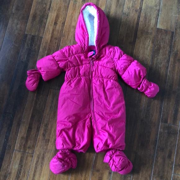 78ff097a5 sells 56b96 4a84f baby gap navy blue white polka dot padded snowsuit ...